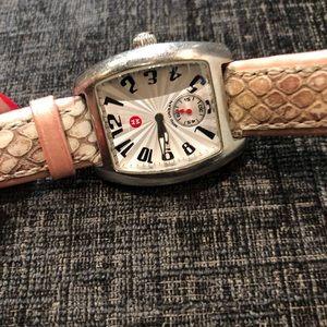 Michele Accessories - Women Michele watch 16mm pink snake skin band